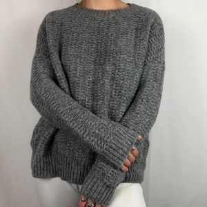 Cozy Grey Knit Urban Outfitters Sweater